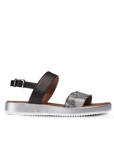 Deery Hakiki Deri Sandalet Gri